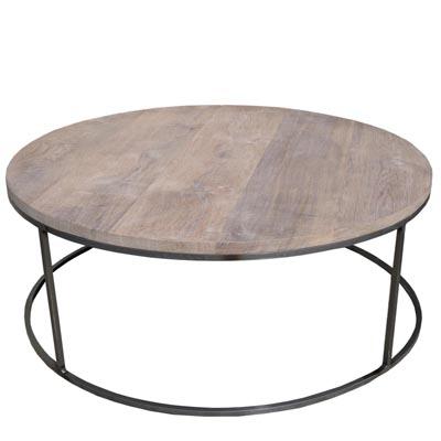 Stalen salontafel rond
