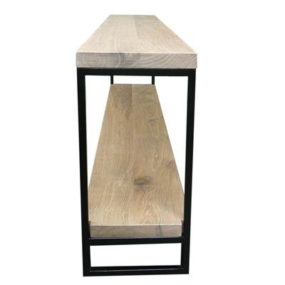 Blank Eiken Side Table.Strakke Sidetable Met Potboard Harrie Rombouts Zonen
