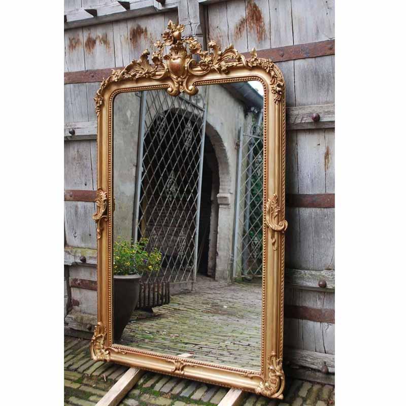 Grote vergulde barok spiegel harrie rombouts zonen for Barok spiegel groot