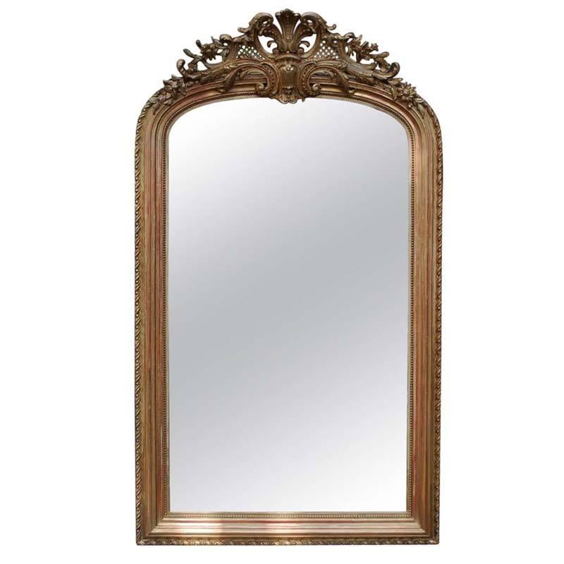 Grote vergulde barok spiegel harrie rombouts zonen - Grote spiegel kleefstof ...